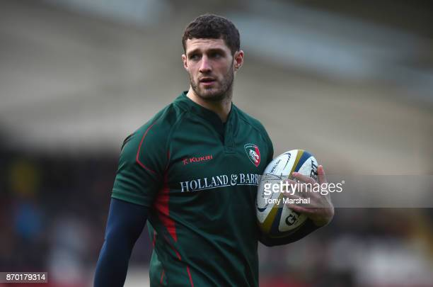 Jonah Holmes of Leicester Tigers during the warm up before the AngloWelsh Cup match at Welford Road on November 4 2017 in Leicester England