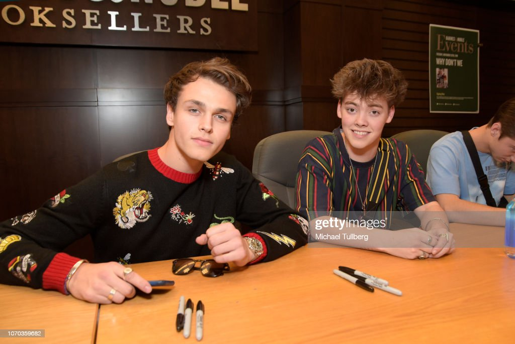 Jonah Marais And Zach Herron Of Why Don T We Attend A Signing Event