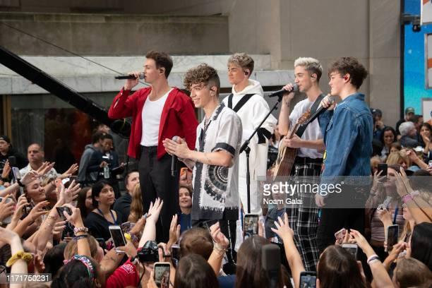 Jonah Marais Jack Avery Corbyn Besson Daniel Seavey and Zach Herron of Why Don't We perform on NBC's Today at Rockefeller Plaza on September 02 2019...