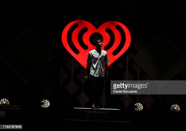 Jonah Marais of Why Don't We performs during 1035 KISS FM's Jingle Ball 2019 Show on December 18 2019 in Chicago Illinois