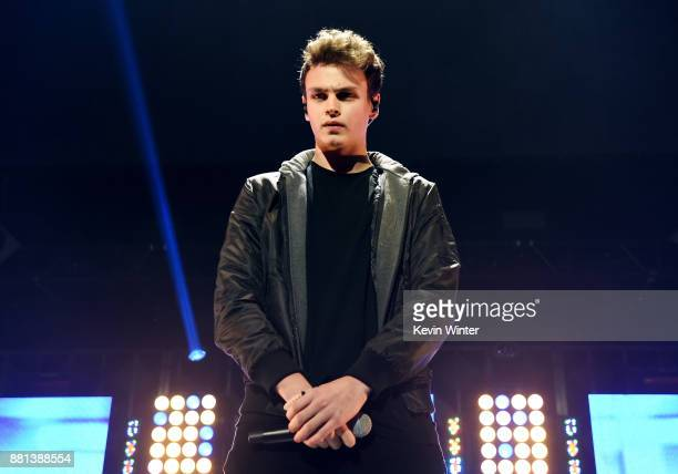 Jonah Marais of Why Don't We performs onstage at 1061 KISS FM's Jingle Ball 2017 Presented by Capital One at American Airlines Center on November 28...