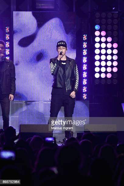 Jonah Marais of Why Don't We performs onstage during Power 961's Jingle Ball 2017 Presented by Capital One at Philips Arena on December 15 2017 in...