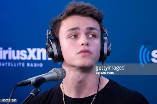Jonah Marais of 'Why Don't We' visits at SiriusXM Studios on April 24 2018 in New York City