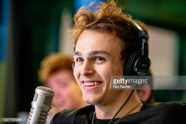 Jonah Marais of Why Don't We visits the Elvis Duran Show co hosted by singer Alessia Cara at Z100 Studio on September 5 2018 in New York City