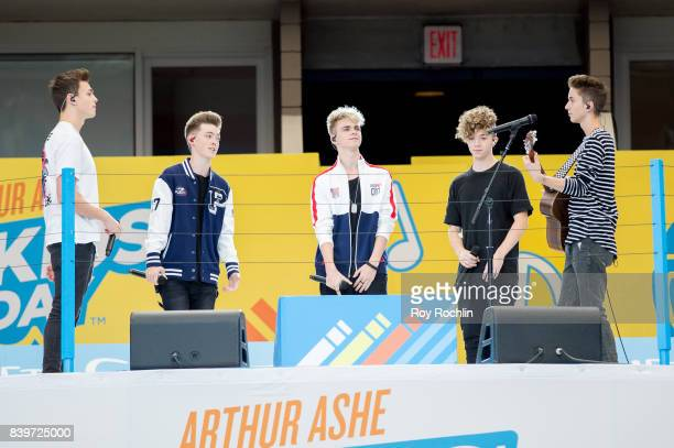 Jonah Marais Zach Herron Corbyn Benson Jack Avery and Daniel Seavey from Why Don't We perform during perform on stage during the 22nd Annual Arthur...