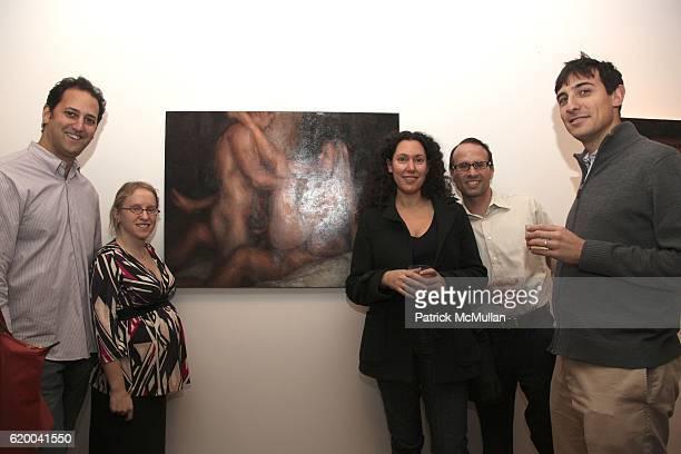Jonah Petchesky Gillian Weber Mollod Allison Berg Jon Mollod and Ephraim attend RUFFIAN Gallery Launch Featuring Paintings by NICK WEBER at 306 West...