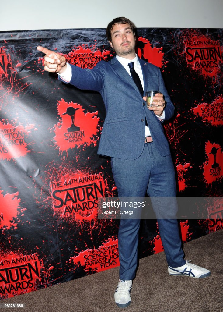 Jonah Ray poses in the press room at the Academy Of Science Fiction, Fantasy & Horror Films' 44th Annual Saturn Awards at The Castaway on June 27, 2018 in Burbank, California.
