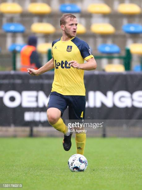 Jonas Bager of Union Saint-Gilloise during the Jupiler Pro League match between Union Saint Gilloise and Club Brugge at Joseph Marien Stadion on...