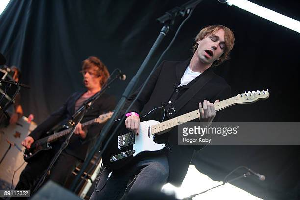 Jonas Bejerre of Mew performs onstage during the Pitchfork Music Festival at Union Park on July 19 2009 in Chicago