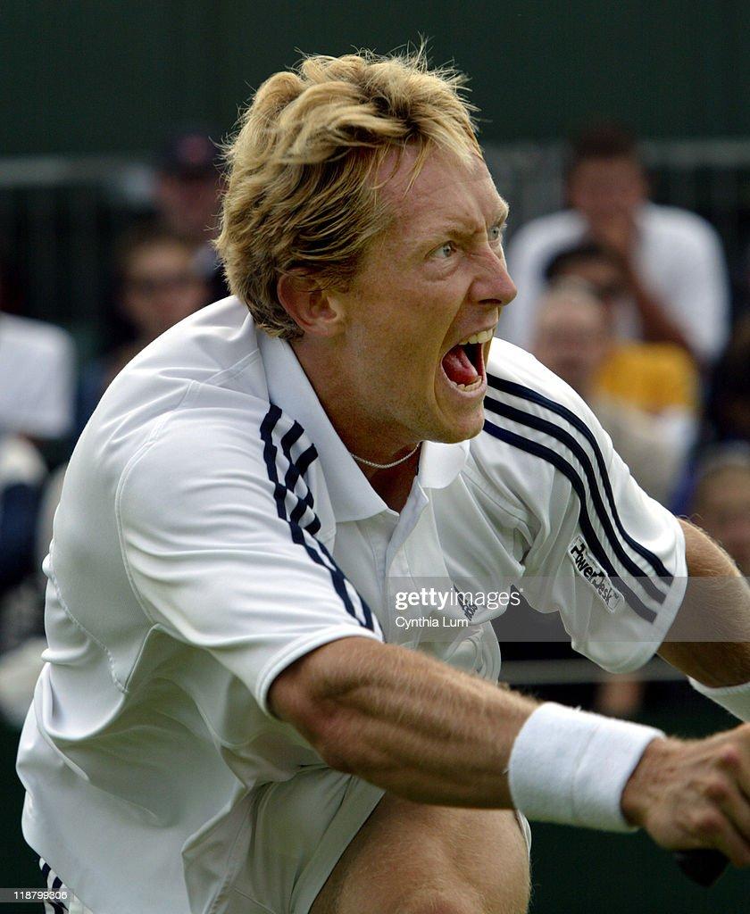 Wimbledon 2003 - Fourth Round - Jonas Bjorkman vs. Max Mirnyi