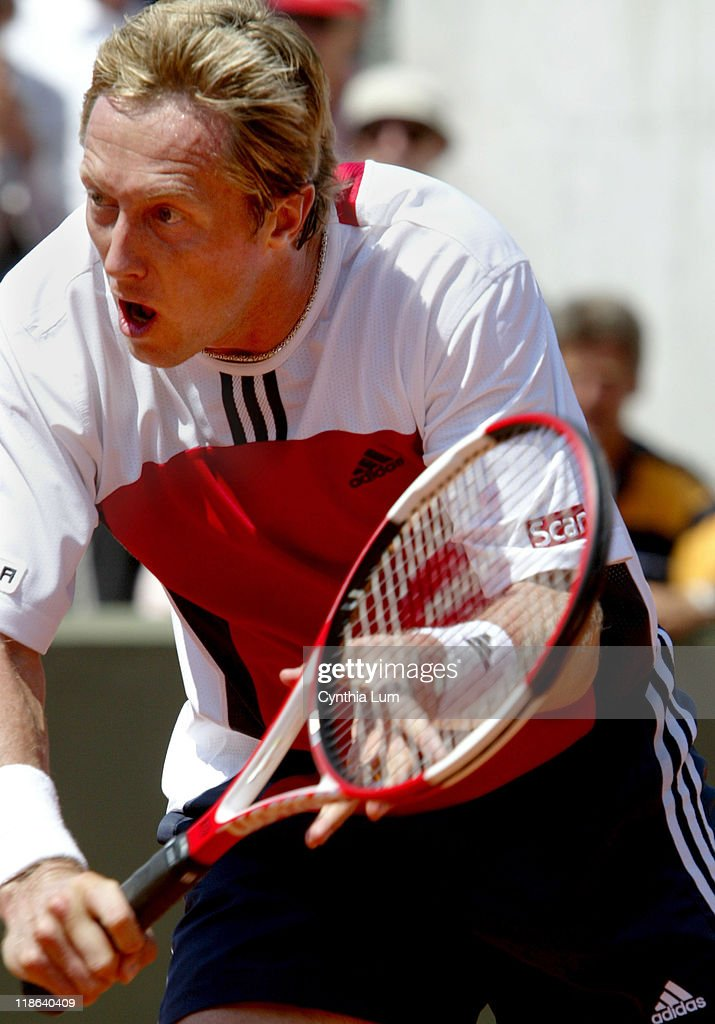 2004 French Open - Men's First Round - Taylor Dent Vs Jonas Bjorkman.