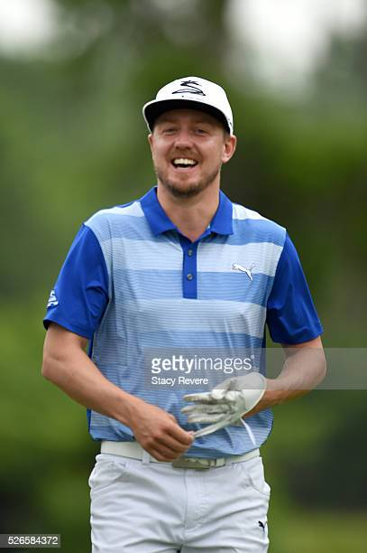 Jonas Blixt of Sweden during the third round of the Zurich Classic at TPC Louisiana on April 30, 2016 in Avondale, Louisiana.