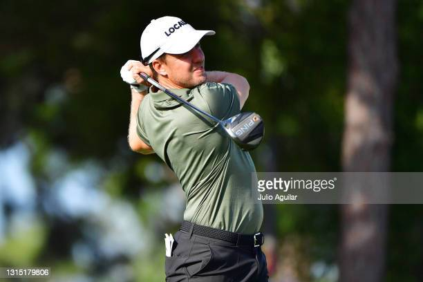 Jonas Blixt of Sweden plays his shot off the first tee during the first round of the Valspar Championship on the Copperhead Course at Innisbrook...