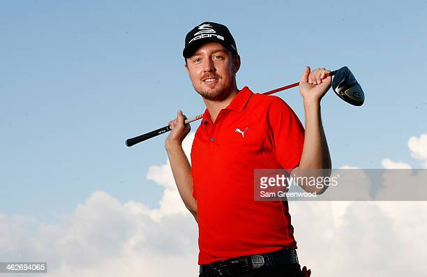 Jonas Blixt of Sweden poses for a portrait during the pro-am round prior to the Hyundai Tournament of Champions at the Plantation Course at Kapalua...