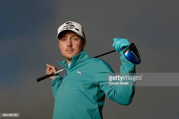 Jonas Blixt of Sweden poses for a portrait during the Zurich ProAm the Farmers Insurance Open at Torrey Pines Golf Course on January 22, 2014 in La...