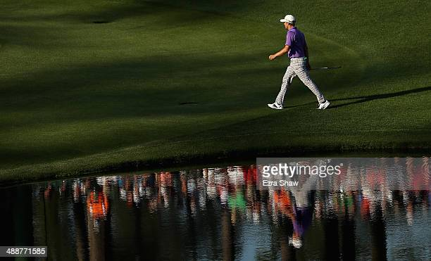 Jonas Blixt of Sweden walks to the 16th green during the third round of the 2014 Masters Tournament at Augusta National Golf Club on April 12 2014 in...