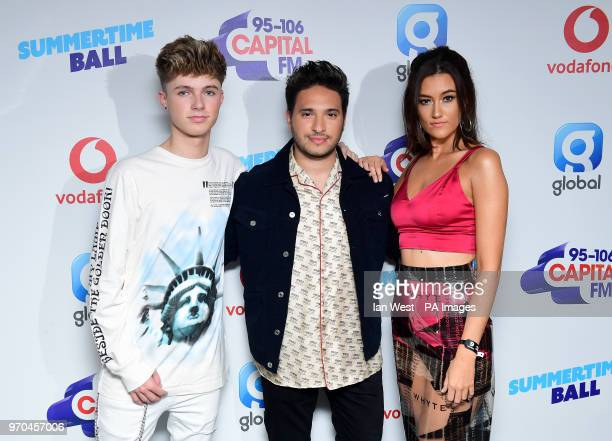 Jonas Blue and Dakota on the red carpet of the media run at Capital's Summertime Ball with Vodafone at Wembley Stadium London