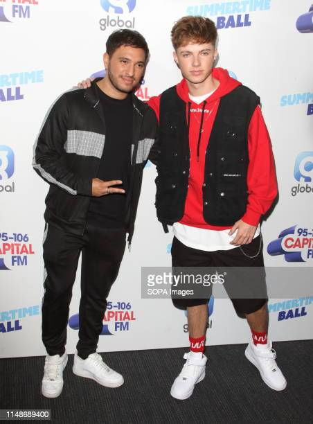 Jonas Blue and HRVY seen during the Capital FM Summertime Ball at Wembley Stadium in London