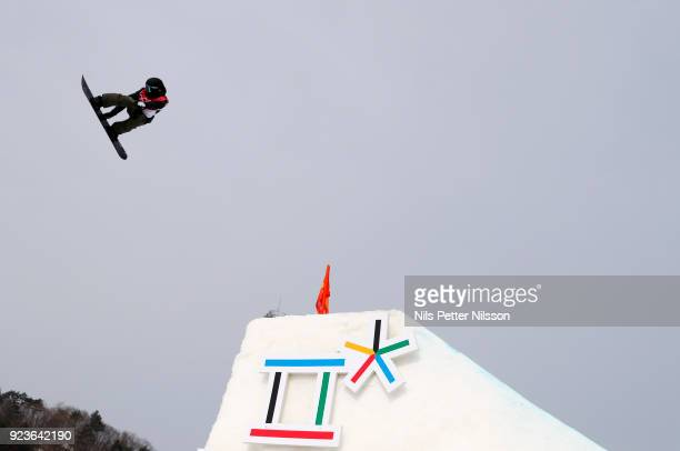 Jonas Boesiger of Switzerland during the Snowboard Mens Big Air Finals at Alpensia Ski Jumping Centre on February 24 2018 in Pyeongchanggun South...