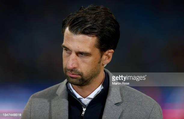 Jonas Boldt, sport director of Hamburger SV is seen ahead of the Second Bundesliga match between Hamburger SV and Fortuna Düsseldorf at...
