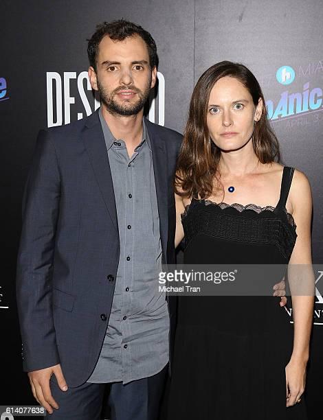 Jonas Cuaron and Eireann Harper arrive at the Los Angeles screening of STX Entertainment's Desierto held at Regal LA Live Stadium 14 on October 11...