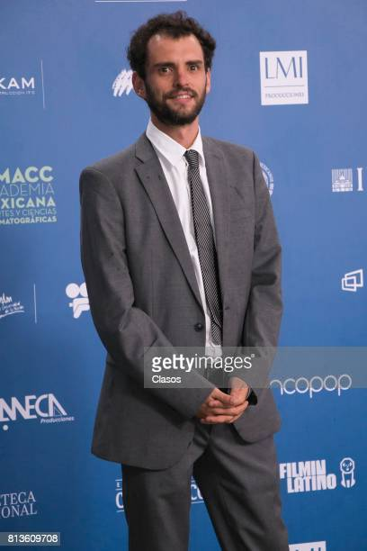 Jonas Cuaron poses during during the 59th Ariel Awards Red Carpet at Palacio de Bellas Artes on July 11 2017 in Mexico City Mexico