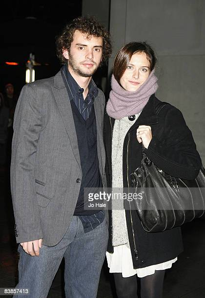 Jonas Curaron and Eireann Harper arrive at the UK premiere of Ano Una at Curzon Renoir Cinema on November 29 2008 in London England