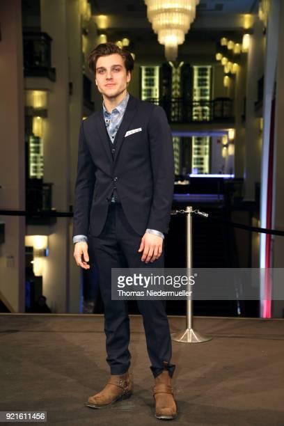 Jonas Dassler attends the 'The Silent Revolution' premiere during the 68th Berlinale International Film Festival Berlin at Friedrichstadtpalast on...