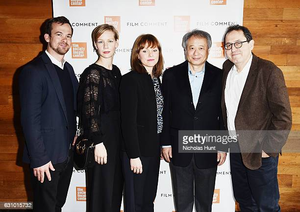 Jonas Dormback Sandra Huller Maren Ade Ang Lee and Michael Barker attends the 2016 Film Society Of Lincoln Center Film Comment Luncheon at Scarpetta...