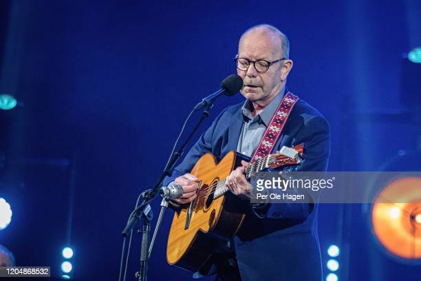 Jonas Fjeld perform Winter Stories with Judy Collins and the Chatham County Line on stage at The National Opera House in Oslo Norway
