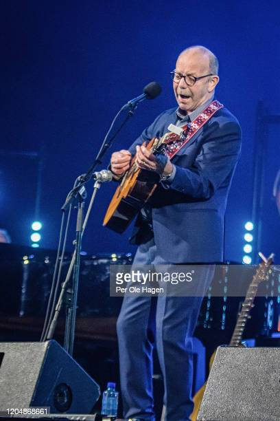 Jonas Fjeld performs Winter Stories with Judy Collins and the Chatham County Line on stage at The National Opera House in Oslo Norway