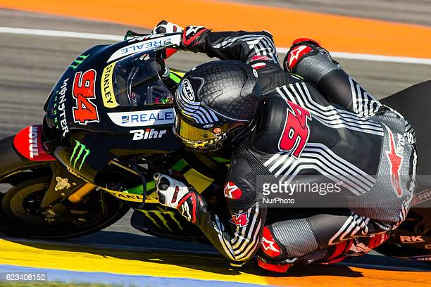Jonas Folger from Germany of Monster Yamaha Tech 3 during the colective tests of Moto GP at Circuito de Valencia Ricardo Tormo on November 15th 2016...