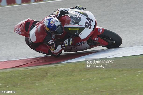 Jonas Folger of Germany and Arginano Gines Racing rounds the bend during the MotoGP Netherlands Free Practice at on June 26 2014 in Assen Netherlands