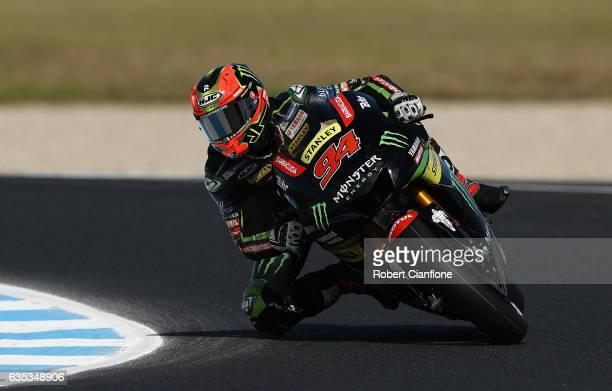 Jonas Folger of Germany and Monster Yamaha Tech 3 rides during 2017 MotoGP preseason testing at Phillip Island Grand Prix Circuit on February 15 2017...