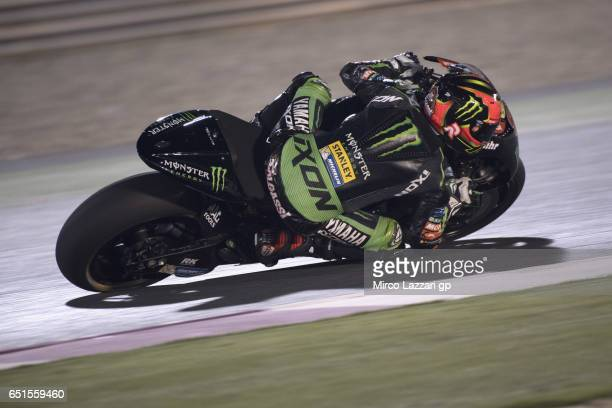 Jonas Folger of Germany and Monster Yamaha Tech 3 rounds the bend during the MotoGP Tests In Losail at Losail Circuit on March 10 2017 in Doha Qatar