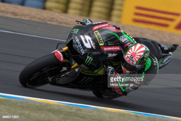Jonas Folger of Germany and Monster Yamaha Tech 3 rounds the bend during the MotoGp of France Qualifying on May 20 2017 in Le Mans France