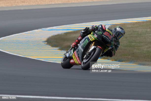 Jonas Folger of Germany and Monster Yamaha Tech 3 rounds the bend during the MotoGP race during the MotoGp of France Race on May 21 2017 in Le Mans...