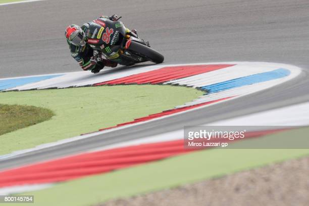 Jonas Folger of Germany and Monster Yamaha Tech 3 rounds the bend during the MotoGP Netherlands Free Practice on June 23 2017 in Assen Netherlands
