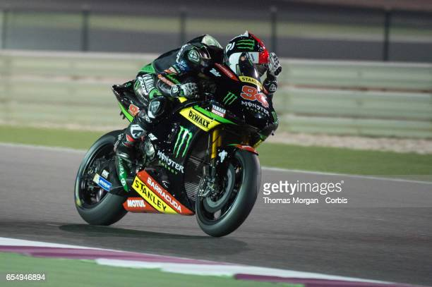 Jonas Folger of Germany who rides Yamaha for Monster Energy Yamaha Tech 3 during the final MotoGP winter test at Losail International Circuit on...