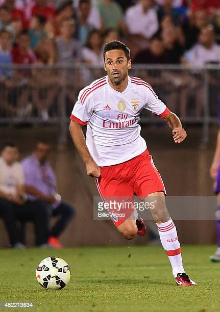 Jonas Goncales Oliveira of SL Benfica in action during an International Champions Cup 2015 match against ACF Fiorentina at Rentschler Field on July...