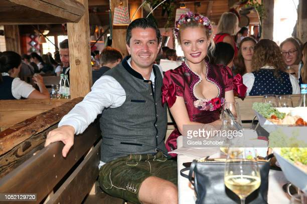 Jonas Grashey Managing Director BurdaStyle and Franziska Knuppe during the BUNTE Lunch at Oktoberfest 2018 at Kaeferschaenke tent / Theresienwiese on...
