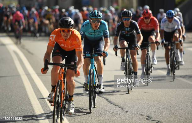 Jonas Gregaard Wilsly of Denmark and Team Astana – Premier Tech during the 100th Volta Ciclista a Catalunya 2021, Stage 7 a 133km stage from...