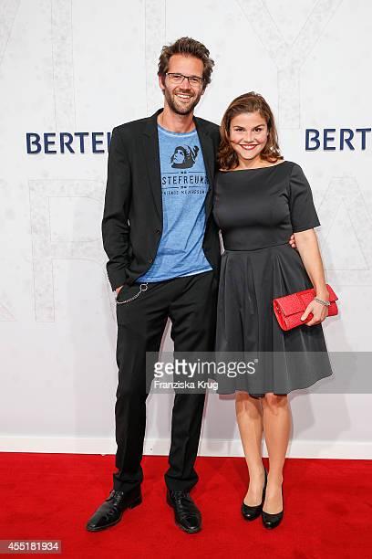 Jonas Grosch and Katharina Wackernagel attend the Bertelsmann Summer Party at the Bertelsmann representative office on September 10 2014 in Berlin...