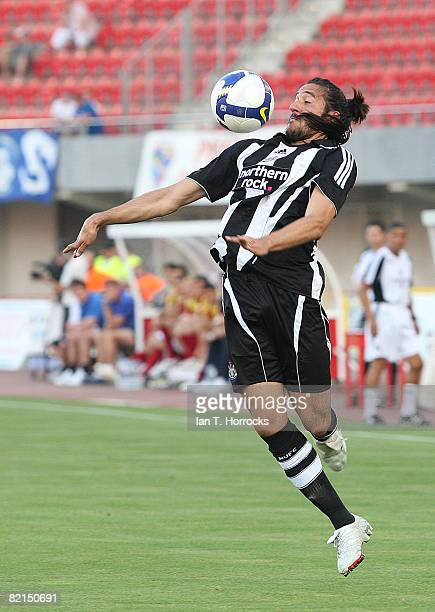 Jonas Gutierrez of Newcastle United controls the ball during the preseason friendly match between Newcastle United and Hertha Berlin in the Mallorca...
