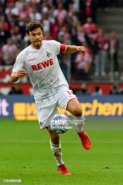 Jonas Hector of 1.FC Koeln controls the ball during the Bundesliga match between 1. FC Koeln and VfL Bochum at RheinEnergieStadion on August 28, 2021...