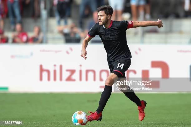 Jonas Hector of 1.FC Koeln in action during the Bundesliga match between Sport-Club Freiburg and 1. FC Köln at Dreisamstadion on September 11, 2021...