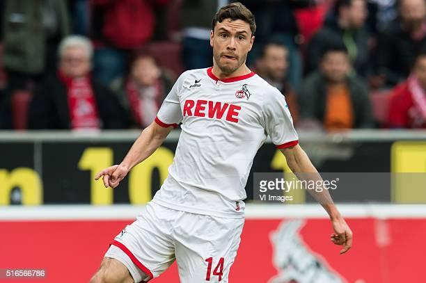 Jonas Hector of 1FC Koln during the Bundesliga match between 1 FC Koln and FC Bayern Munich on March 19 2016 at the RheinEnergieStadion in Koln...