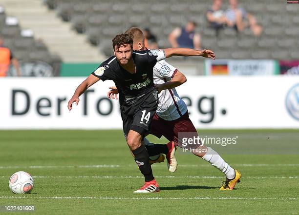 Jonas Hector of FC Koeln controls the ball during the DFB Cup first round match between BFC Dynamo and 1 FC Koeln at Olympiastadion on August 19 2018...