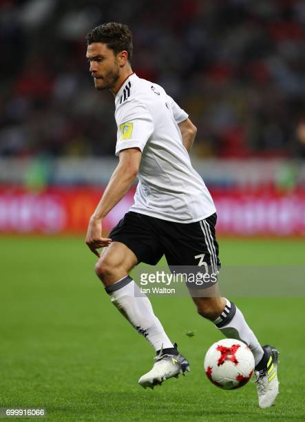 Jonas Hector of Germany in action during the FIFA Confederations Cup Russia 2017 Group B match between Germany and Chile at Kazan Arena on June 22...