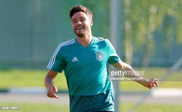 Jonas Hector of Germany in action during the Germany Training Session at Luzhniki Stadium on June 16 2018 in Moscow Russia